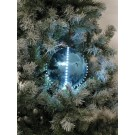 EUROPALMS LED Snowball 8cm, eisblau 5x
