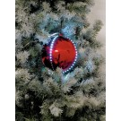 EUROPALMS LED Snowball 8cm, rot 5x