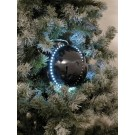 EUROPALMS LED Snowball 8cm, schwarz 5x