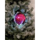 EUROPALMS LED Snowball 8cm, rosa 5x
